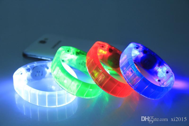 2015 новый голос активированный звуковой контроль светодиодный мигающий браслет Браслет браслет для ночного клуба деятельности дискотека