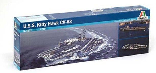 Academy 1/800 Scale 14210 U.S.S. CV-63 Kitty Hawk Aircraft Carrier Kit modello in plastica Modello assemblato Spedizione gratuita