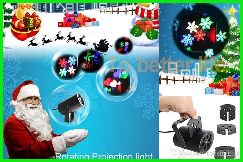 크리스마스 벽 장식 레이저 등 4 구글과 카드 램프 할로윈 눈송이 사랑의 사탕 두개골 프로젝터 조명을 주도