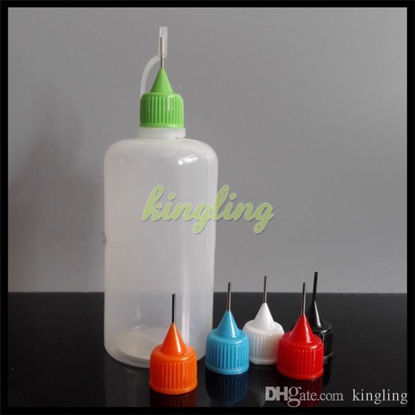 100 мл PE пластиковые ecigs электронная жидкого металла иглы с длинной тонкой кончика иглы бутылки с электронной жидкости бутылки PE пластичные электронные сигареты бутылки