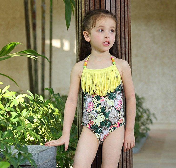 2018 Girl Children One Piece Swimsuit 2016 Summer Cute ...