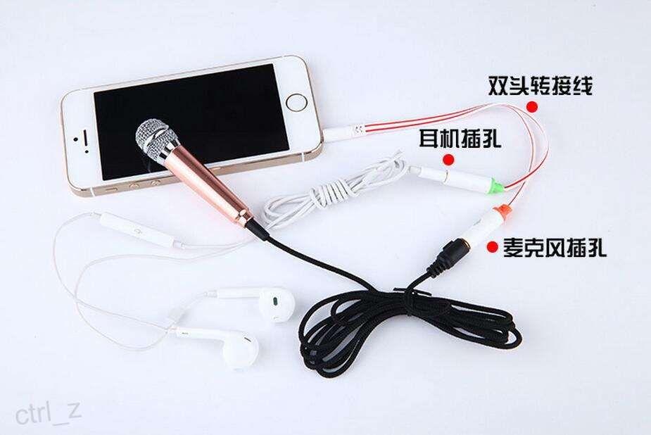 Mini-kleines Metallmikrofon für iPhone 6 6s plus Samsung-androider beweglicher Laptop ipad Miniluftpro-3.5MM Hochleistungsmikrofon