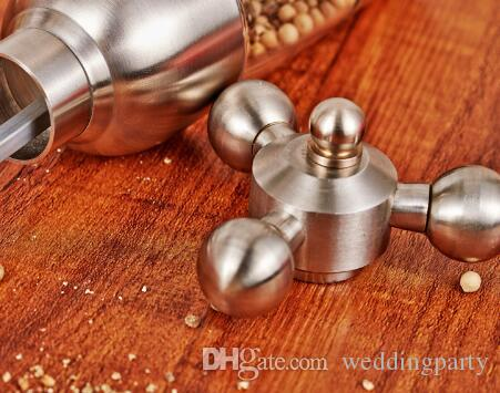 50 piezas de cocina de alta calidad molino de pimienta de acero inoxidable forma de grifo molino de pimienta Molinillo manual