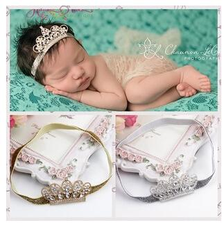 dcab42242cc 2015 Infant Crown Headbands Girl Cotton Headwear Kids Baby Photography  Props NewBorn Bow Hair Accessories Baby Hair Bands F117BD Headband Online  with ...