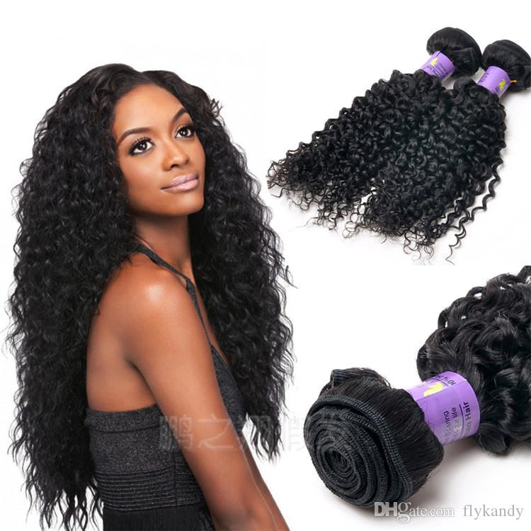 Good Luster Curly Deep Wave Human Weft Hair Extensions 100 Raw