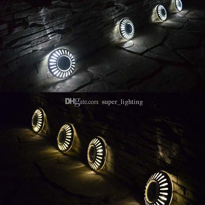 Lámpara de luz solar a prueba de agua Leds Luz del jardín Luces de pared para césped al aire libre Luces de pared con energía solar Lámpara de pared LED UFO
