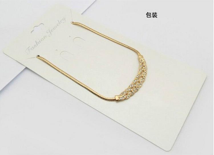 Waltz Crystal Necklace Short paragraph clavicle chain Pendant Necklace Valentine's day national wind jewelry For Women 1018