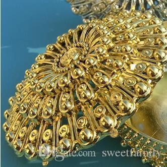 100 teile / los Luxus Goldene Silber Schatztruhe Pralinenschachtel Hochzeit Gunsten Party Empfang Süßigkeiten Paket Partei Liefert