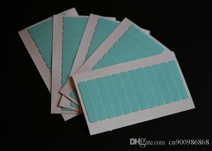 1bag Super qulity cinta adhesivo de color azul para el pelo de la piel trama de la trama del pelo de la pu pelo tiempo 3 meses pelo cinta de doble cara