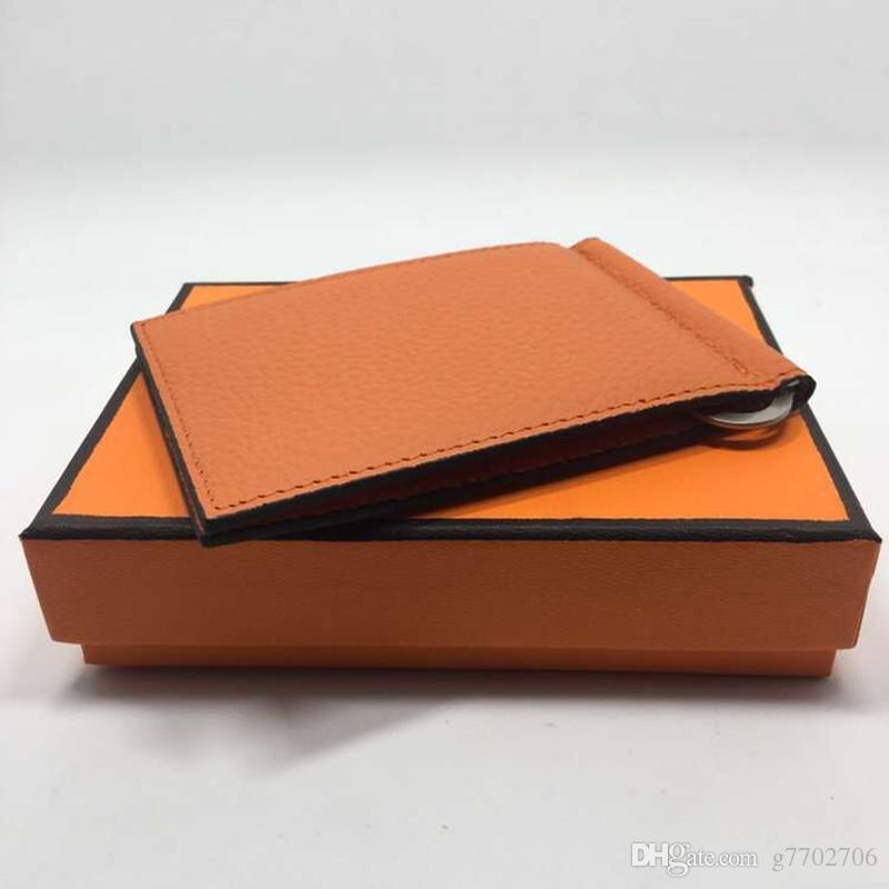 9 цветов натуральная кожа держатель кредитной карты кошелек с металлическим зажимом для денег классический Desinger мужские женские 2017 Новые поступления мода ID card Case