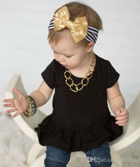 Filles Bandeaux Enfant Sequin Bow Stripe Tête Bandes Bébés Accessoires Pour Enfants Bébé Bandeaux 2015 Bandeaux De Cheveux Bébé Accessoires De Cheveux C8920