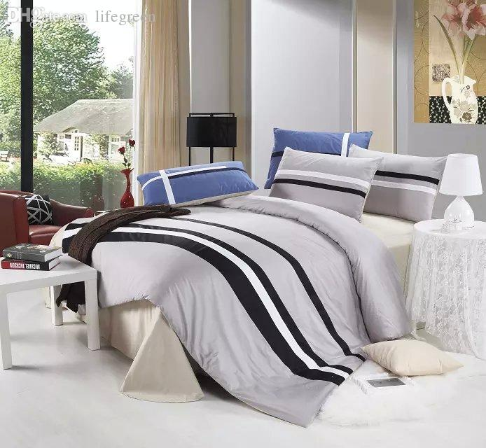 mens bed sets country style striped mens bedding set 12373