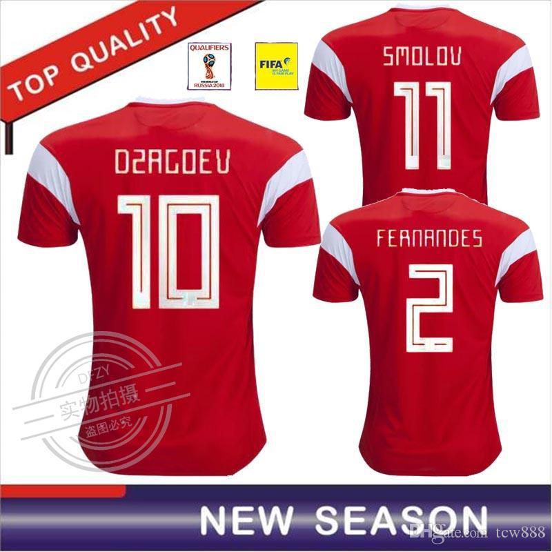 cc05a065a 2019 Thai Quality 2018 World Cup Russia Soccer Jerseys 2018 Russian Home  Red Football Uniform Kokorin Dzyuba Smolov Soccer Shirts From Tcw888