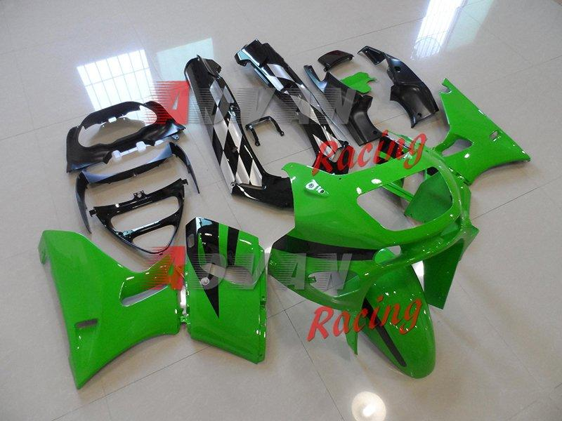 Green Black Fairing Bodywork Conjunto de plástico Kawasaki ZZR400 ZZR 1995-2003 5