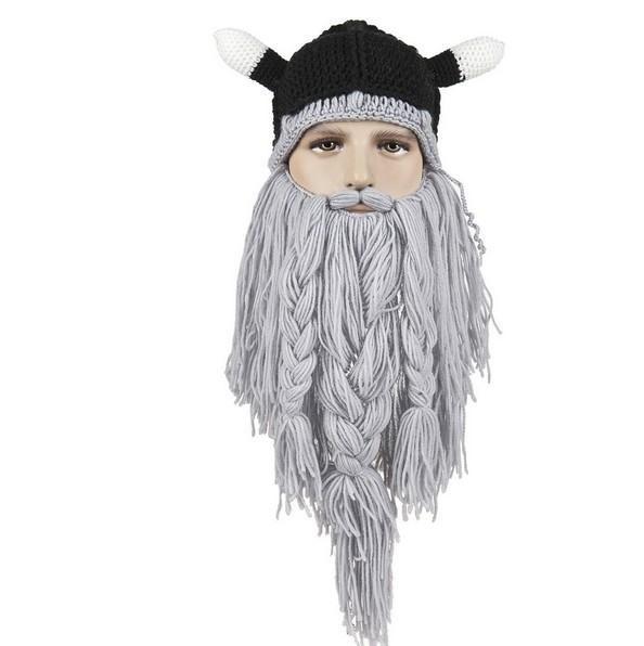 3818789356a 2015 Handmade Viking Horns Beard NPC Wonderful Wool Cotton Cap Stage ...