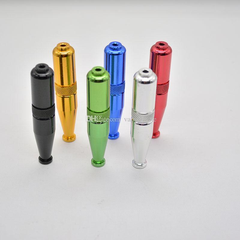 torpedo vorm metalen pijp roken aluminium tabak sigaret pijp 5 kleuren bieden ook molen quartz titanium nagel 2016