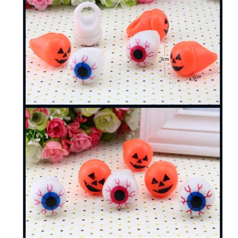 Venta al por mayor Juguetes de Halloween Luminoso Anillo de Mano Anillo de Dedo Intermitente Dedo Luz decoración del partido Niños Regalos de Halloween ouc2088