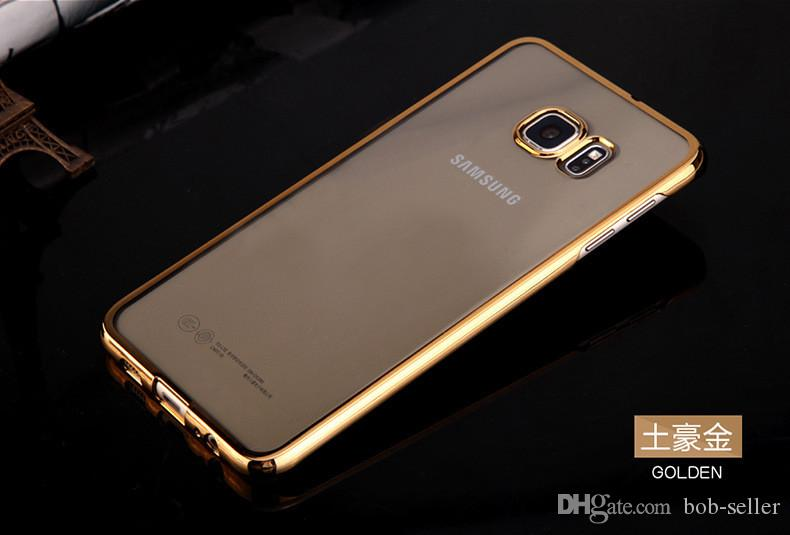 Nouvelle Arrivée Dor Pour Samsung Samsung S6 Edge Plus PC Coque Transparente Placage Mince Téléphone Shell Résistant À La Saleté En Gros Pas Cher ...