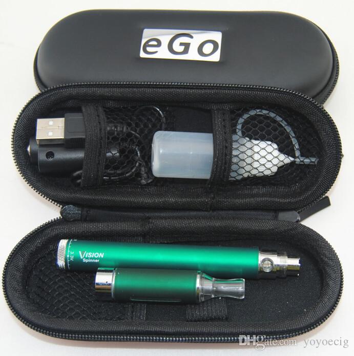 Vision Starter Kit E Cigarette Vision Spinner MT3 Kit e cig spinner Variable Voltage 3.3v-4.8v battery vaporizer ecig ego kit DHL Free