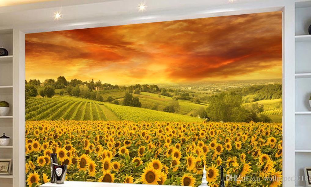 dekorative Mauer Schöne warme Meer Wand Hintergrund Gemälde Tapete