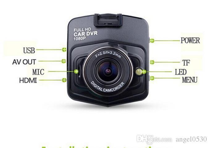 2015 100% Mini Tachograph GT300 auto DVR kamera dvrs full hd 1080 p recorder video registrator nachtsicht box carcam dash Auto DVRs