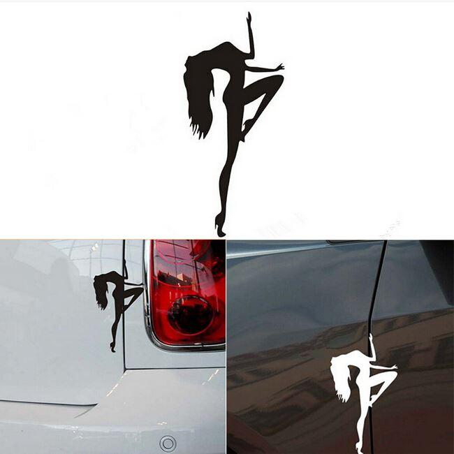 Pole Dancing Car Stickers Waterproof On Rear Windshield Door Tank - Modern car decal sticker girl
