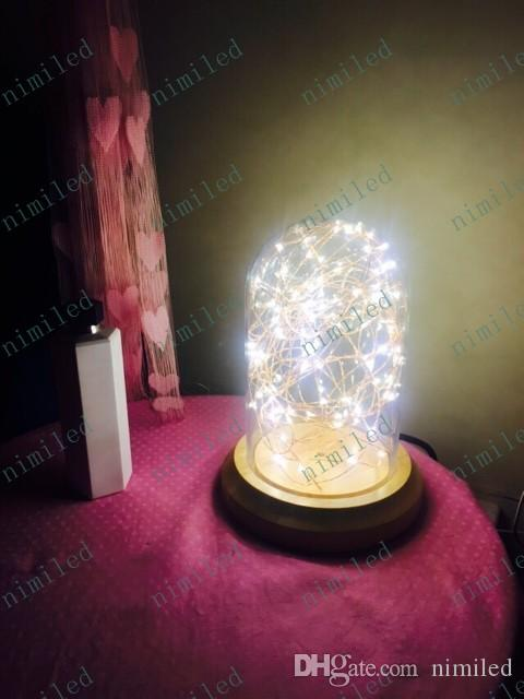 nimi596 Personality Warm Wood Glass Desk Lamp Retro Bedside Lamp LED Decorative Table Light Bar Station Cafe Living Room Lighting