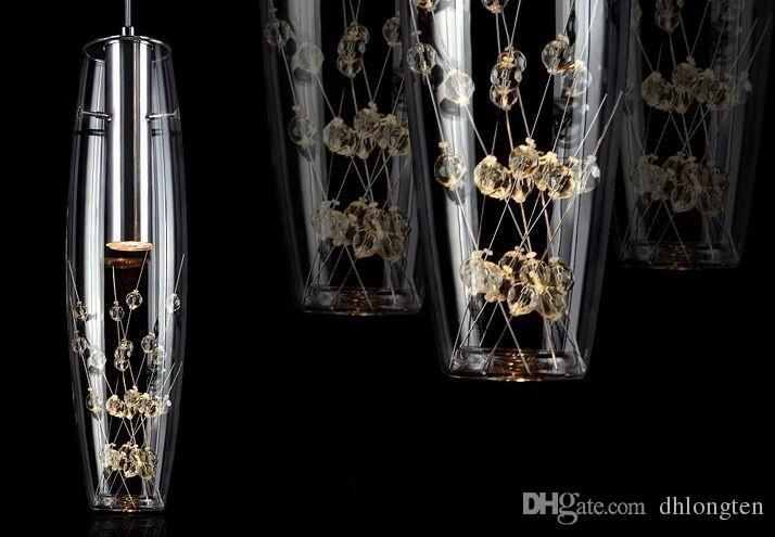 O envio gratuito de 2015 nova personalidade Criativa restaurante lâmpada LED lustre de cristal moderno e minimalista bar lâmpada de mesa refeição lâmpada de suspensão