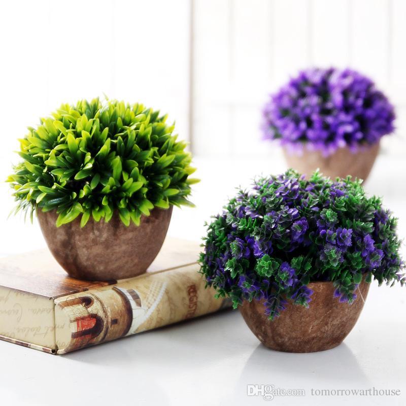 Yaratıcı Simülasyon Çiçekler Bonsai Simülasyon Saksı Bitkileri Orkide Sahte Çiçekler Ev Dekorasyon