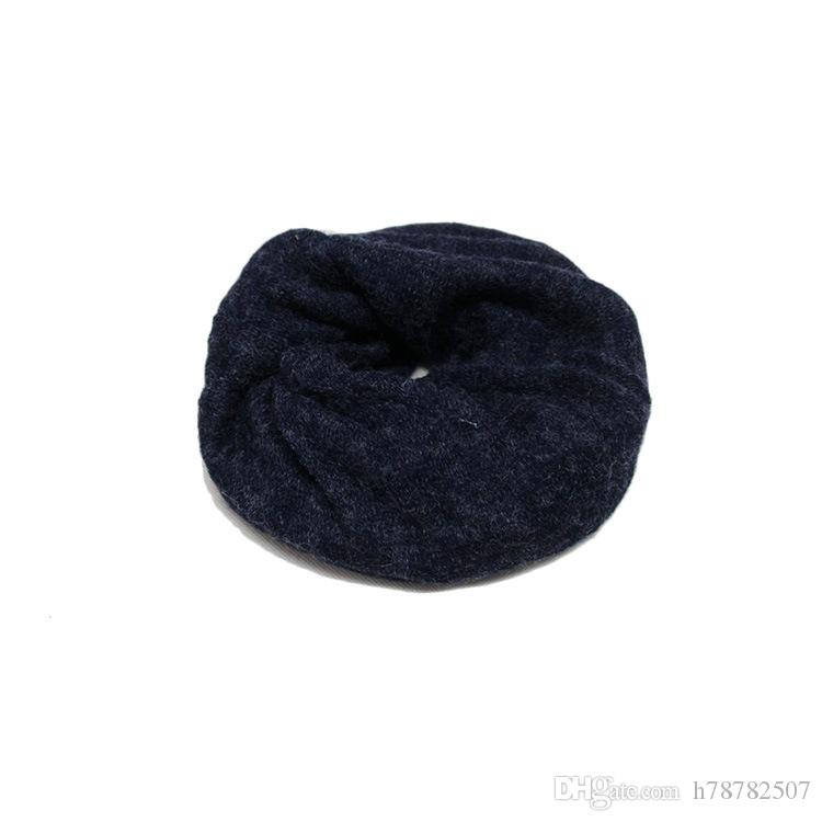 DHL Cotton Beanies Korean simple winter warm hats for women Two uses scarf hat Fashion Outdoor Caps