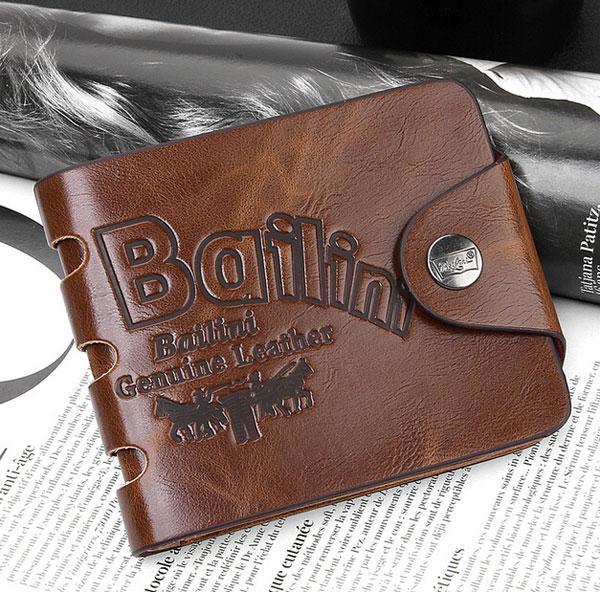 PU Leder Brieftaschen Frühling Hohe Qualität Nagelneu Herren Leder Brieftasche Taschen Karte Kupplung Zentrum Bifold Geldbörse für Männer / Frauen