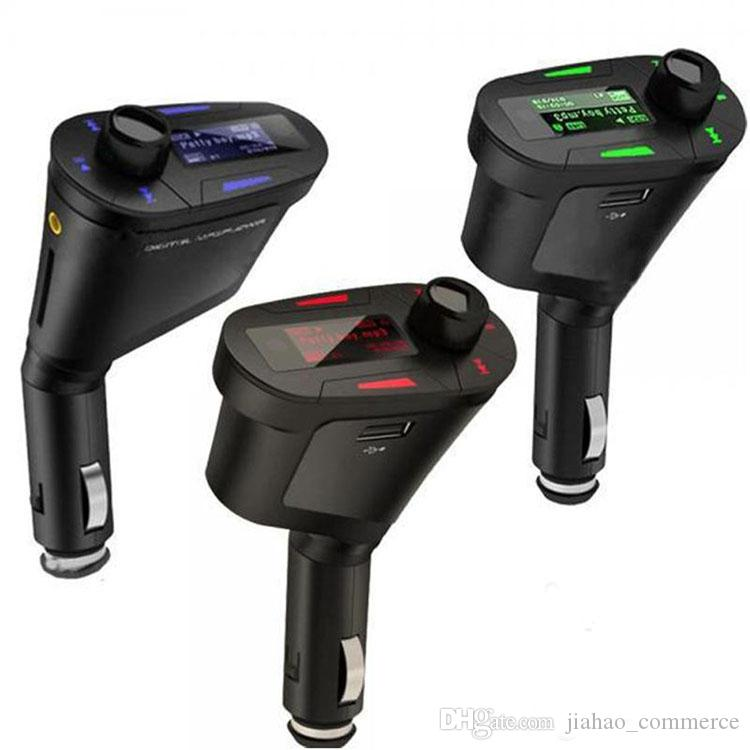 by dhl or ems Car MP3 Player Wireless FM Transmitter With USB SD MMC Slot retail box