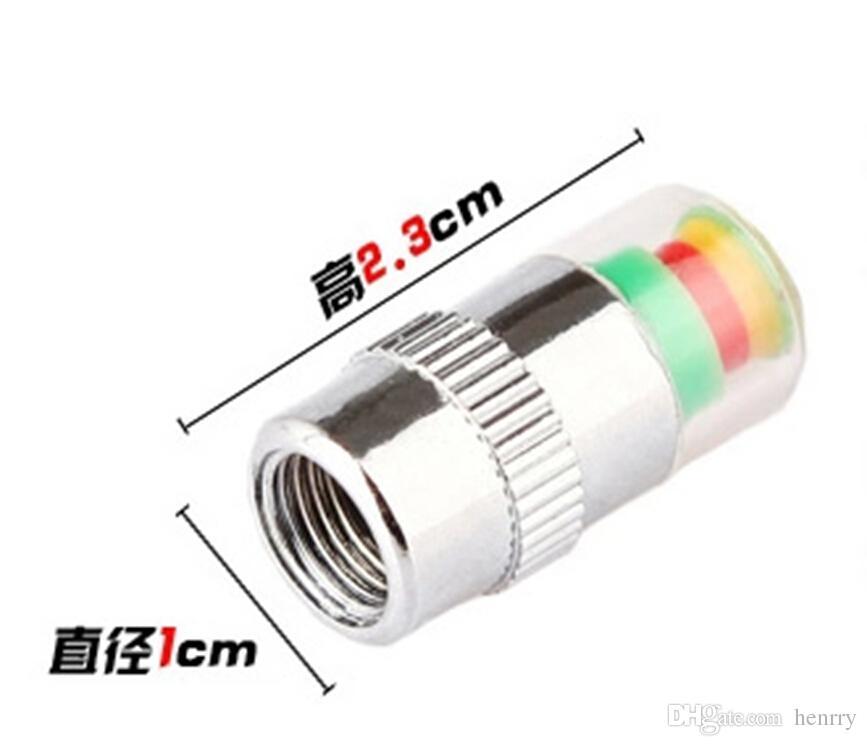 الضغط تنبيه الهواء صمام الاطارات كاب سيارة مراقبة ضغط الإطارات السيارات صور 2.4BAR أداة 36PSI TPMS 3 ألوان تنبيه