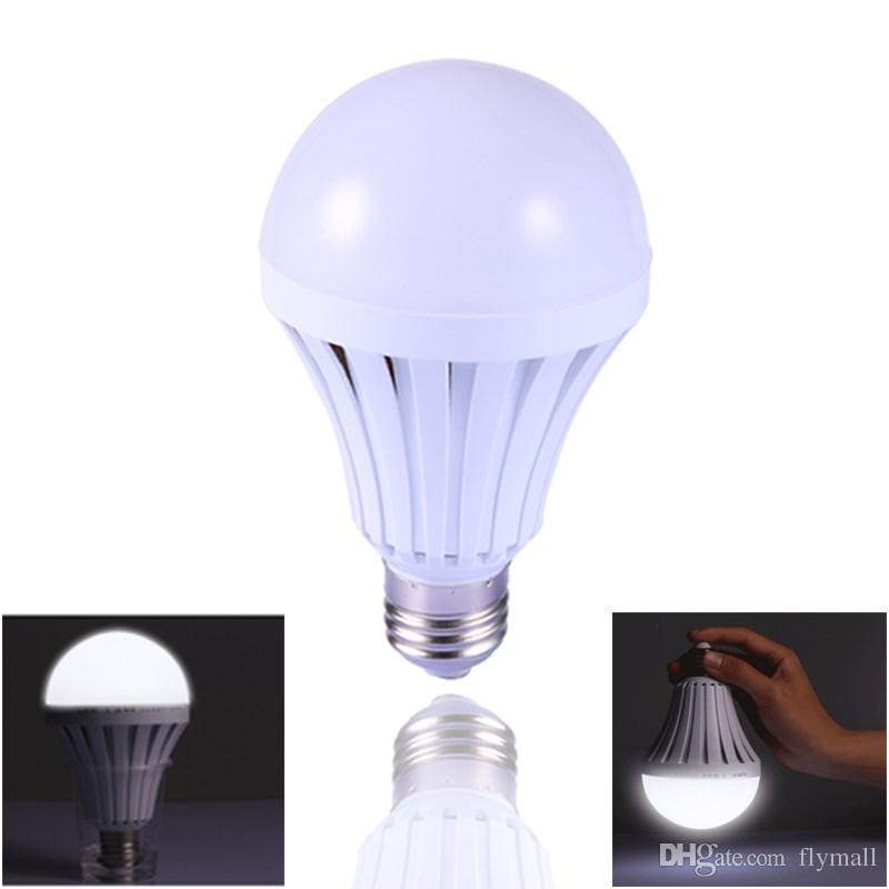 Intelligent E27 LED Lamps 5W 7W 9W 12W B22 Emergency Light Bulb E27 Led Bulbs Rechargeable Lighting Lamp Outdoor Camping Lamps