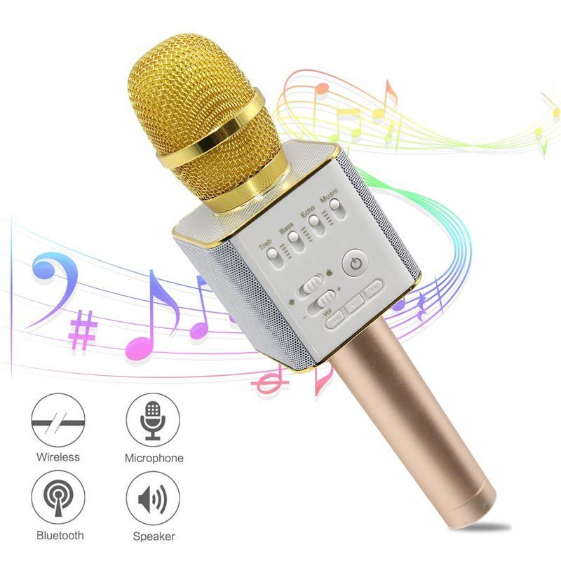 Magic Q9 Bluetooth Mikrofon Lautsprecher Q9 Karaoke Singing Plattenspieler KTV Wireless Portable Mikrofon für iPhone7 Plus Samsung S7 Edge LG