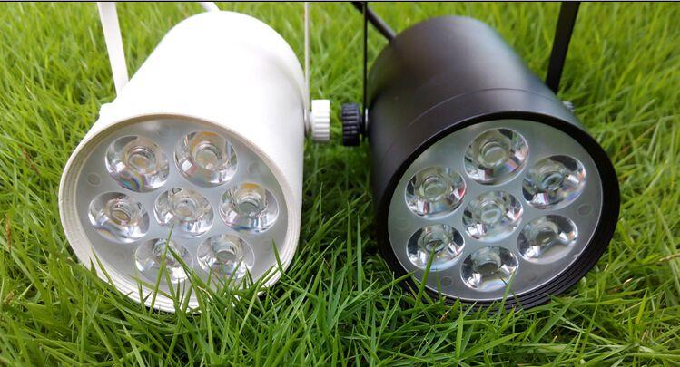 7W Indoor LED Track Rail Spotlight Bulb Energy Saving Home Decorative Bulbs 7X1 Watt Lighting Lamps Chips Downlights AC85-265V CE