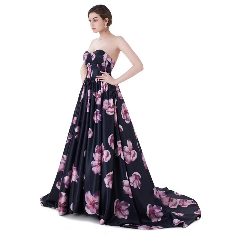 Cheap Long Evening Dresses 2017 New Sleeveless Sweetheart Floor Length Petal Power a Line Ruffle Formal Prom Dresses Party Gown 13-ID0090