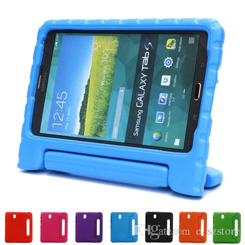 For Samsung Galaxy Tab S T700 Case 8.4 Inch EVA Handle Stand Children Kids Silicon Thick Foam Shock Proof Soft Tablet Leather Bags 8 In