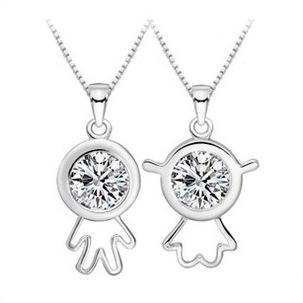 Online cheap new silver plated pendant crystal stone lover online cheap new silver plated pendant crystal stone lover pendants fit necklaces chain for women man party birthday trendy fashion jewelry by wgl2016 mozeypictures Images