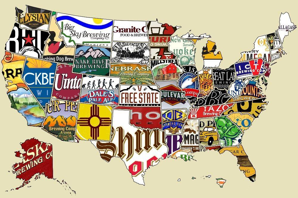 The Brands In United States Cartoon Luxary Home Decoration Fashion - Free us map poster