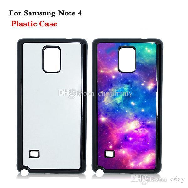 new arrival a116a 8bc93 Personalized 2D Sublimation Plastic Mobile Phone Case for Samsung Galaxy  Note 4 DIY Heat Press Cases DHL Free Shipping