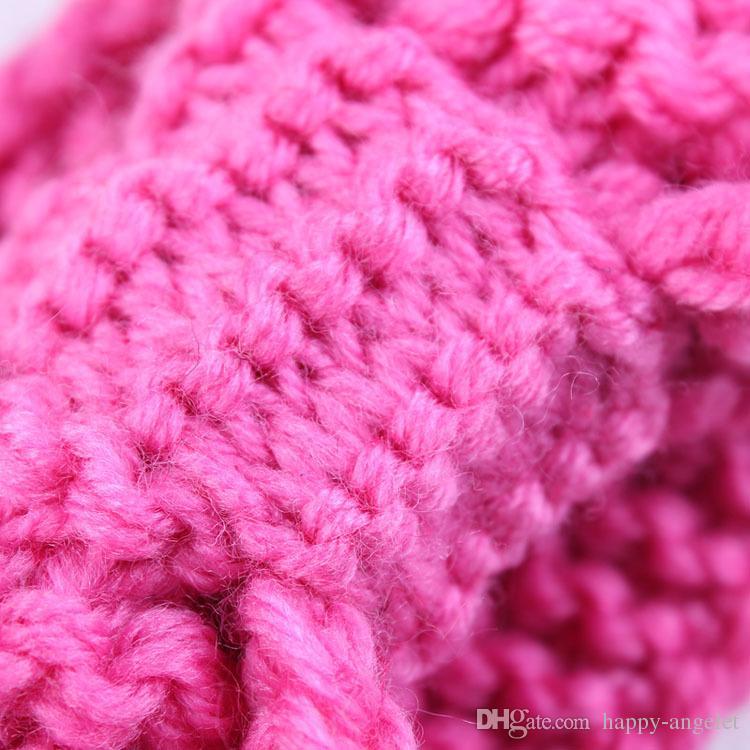 новый бутик Xmas новорожденный вязать эластичный обертывание головы вязание шерсть лук диапазон волос ребенка крестили повязка тюрбан твист завязывают Headwrap FD6579