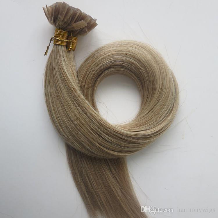 200g 200strands Pre Bonded Flat Tip Hair Extensions 18 20 22 24inch