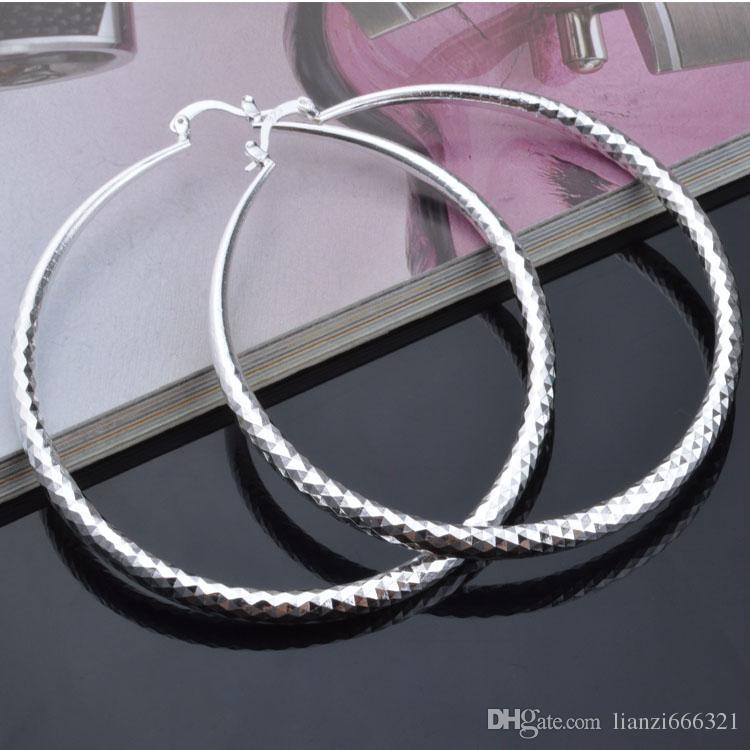 Moda ładna eksplozja Modele w Europie i Ameryce Moda SHINE Rombic Circle 925 Srebrne Kolczyki Srebrne Kolczyki 1200