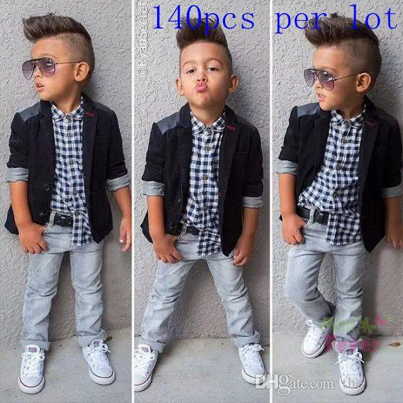 2015 Latest Fashion Boys Outfits Gentleman Casual Blazer+Shirts+ ...