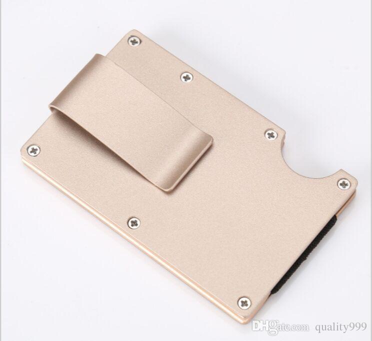 new men wallets credit holder adjustable card sets business alloy wallet cards sets cash clip holder metal card pack
