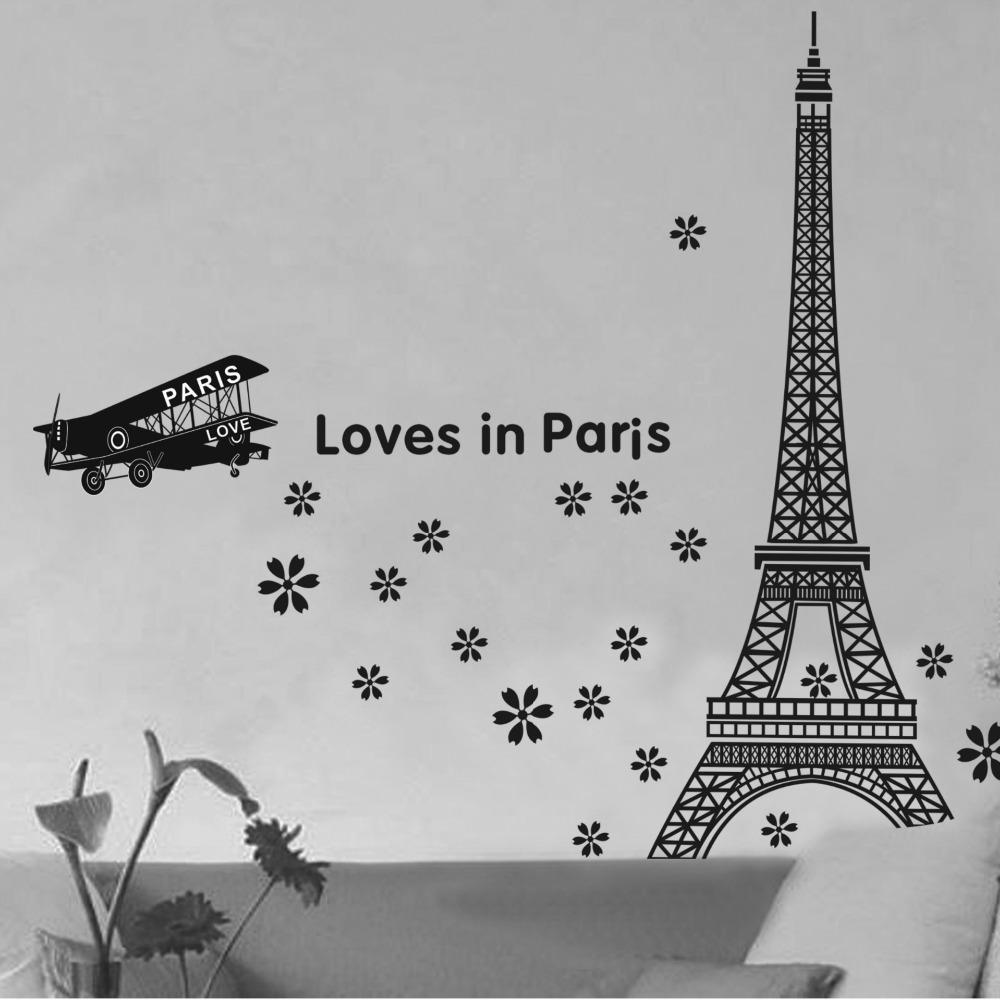 Pvc Eiffel Tower Wall Hangings Living Room Bedroom Background Decoration Wall  Stickers Home Decoration Baby Nursery Wall Decals Baby Nursery Wall Stickers  ...