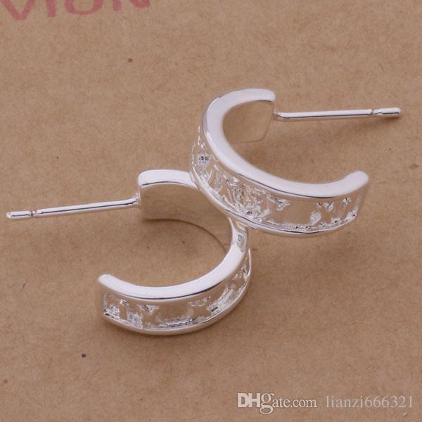 Мода производитель ювелирных изделий 40 шт много Рим круг серьги стерлингового серебра 925 ювелирный завод мода блеск серьги