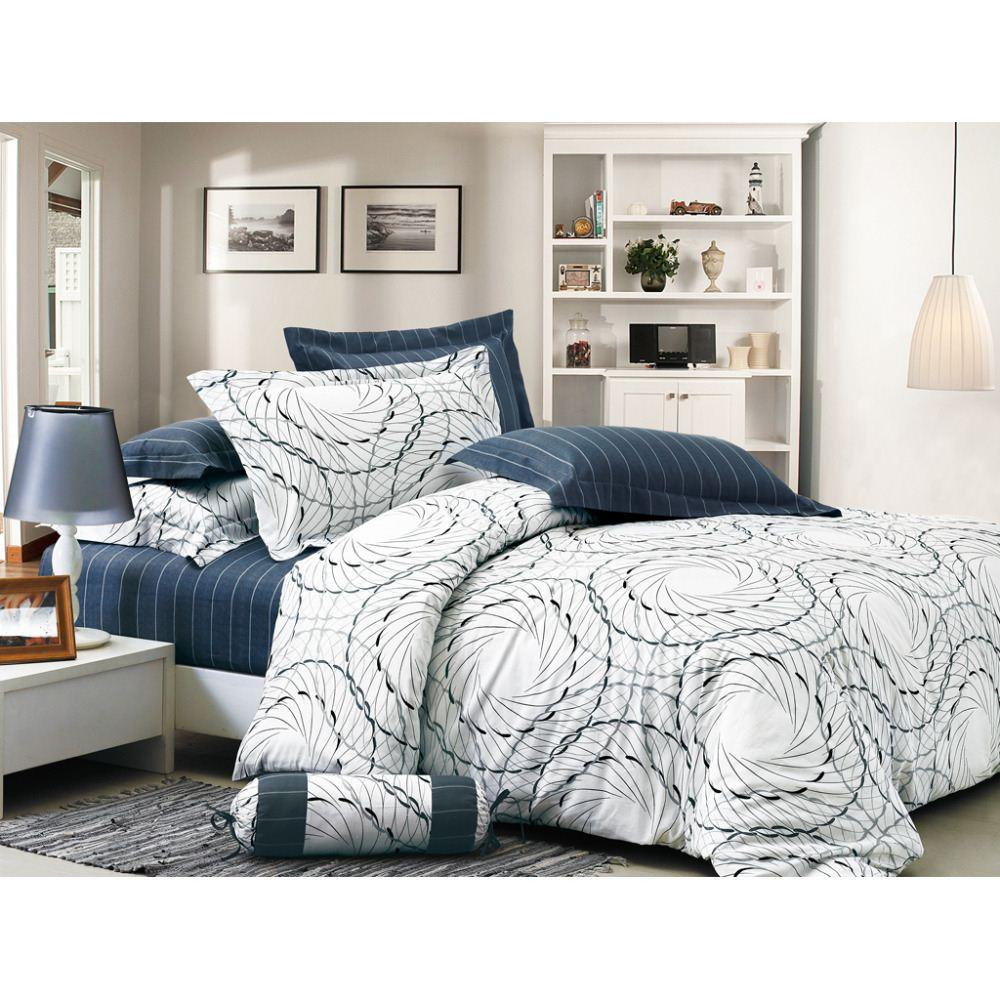 2018 Brand Ovonni White Elegant Bed Cover Bedding Sets