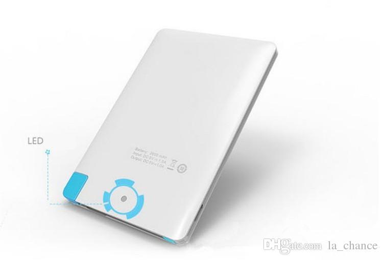 2600mah Ultra Power Power Bank di Power Bank di Power Bank di Power Bank di potenza di 2500mah con cavo USB integrato